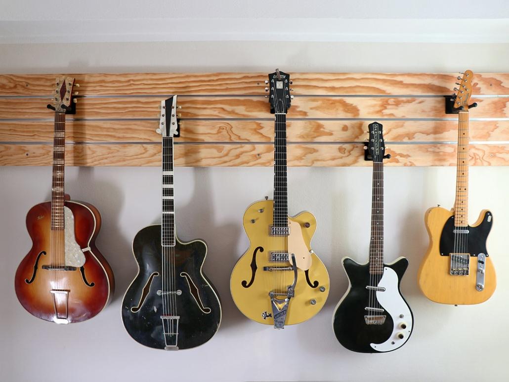 Profilwand für Gitarrenhalter